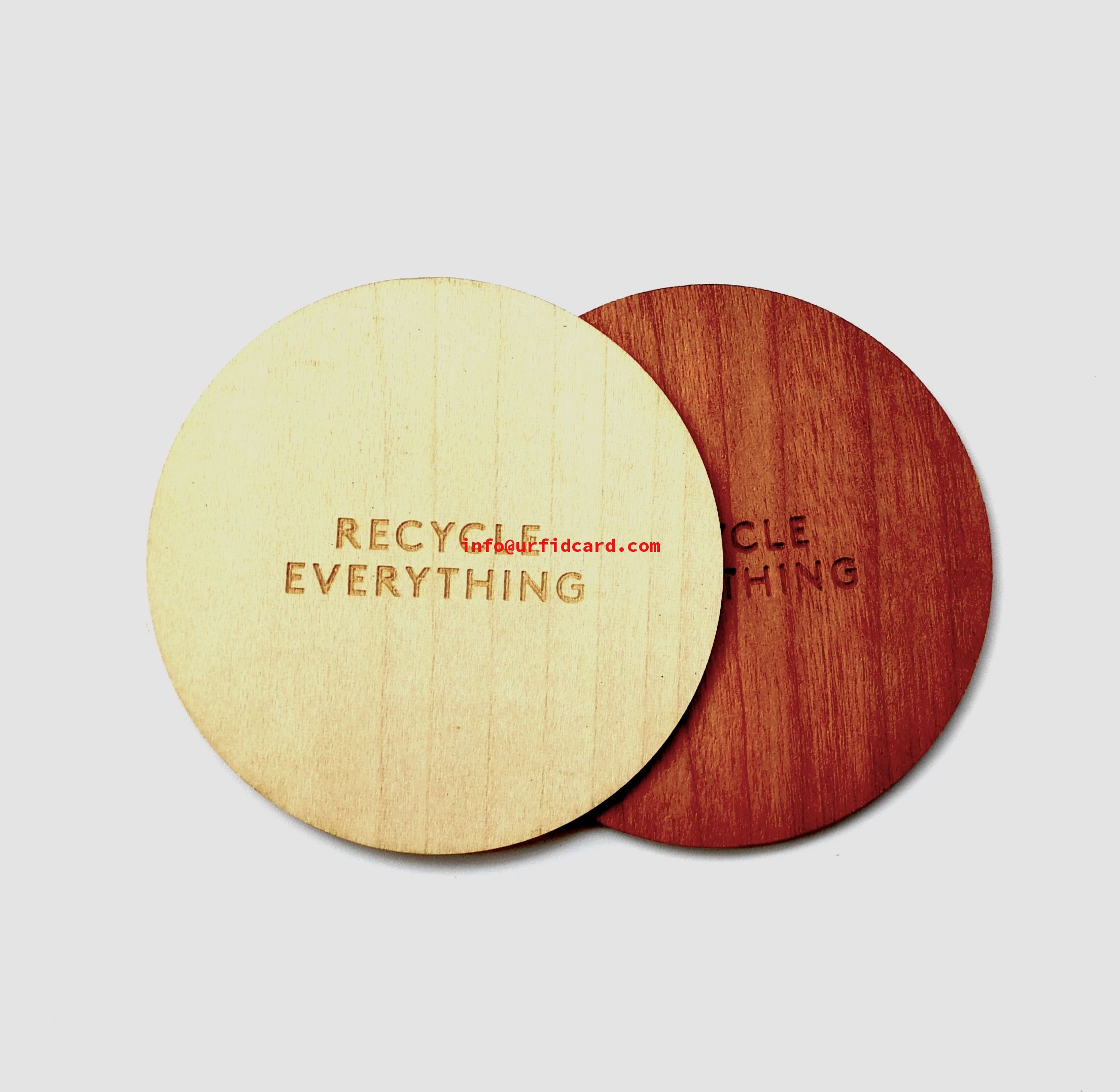 Sustainable Ntag213/Ntag216 Wood NFC Cards