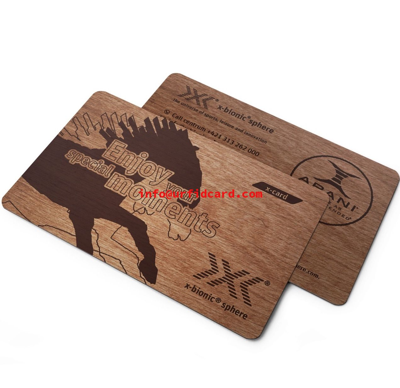 RFID Wooden Keycards With 1k Mifare chip