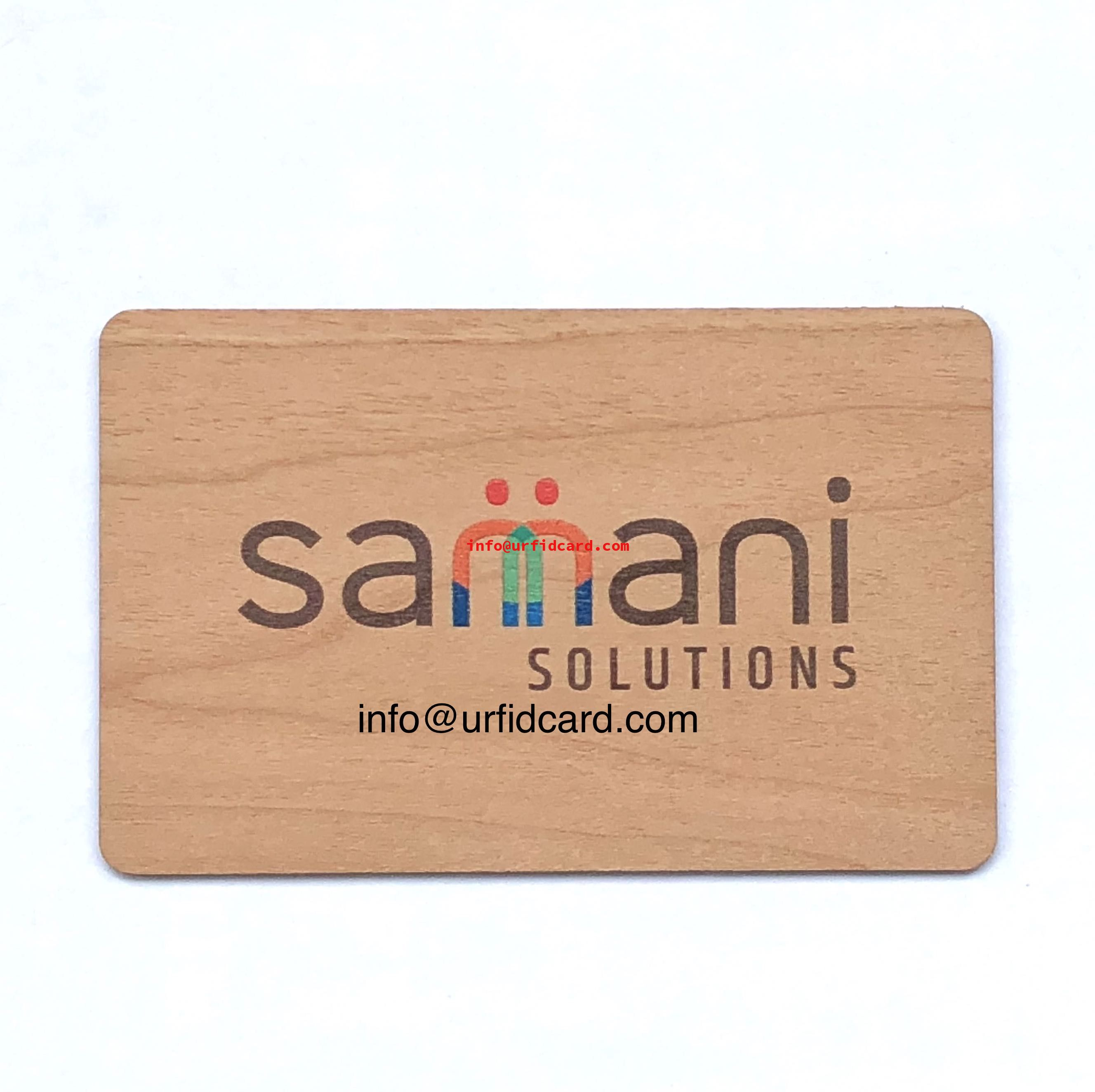 Sustainable wood RFID key card works with Saflok Quantum